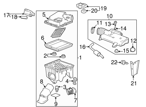engine/air intake for 2012 cadillac srx