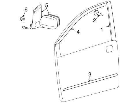 BODY/OUTSIDE MIRRORS for 2007 Toyota Sienna #1