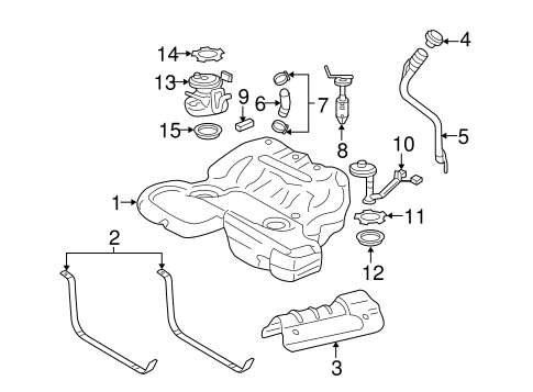 Oem 2011 Cadillac Sts Fuel System Components Parts