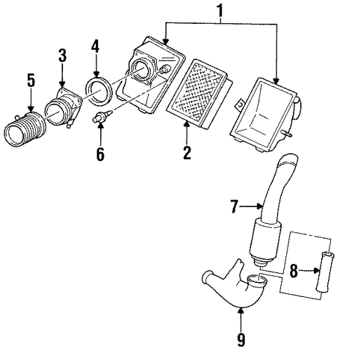 Genuine Intake Manifold Gasket 8854533 also Supercharger And  ponents Scat as well Ford Intake Hose 6l2z9e931b further Gm Intake Manifold 55593173 as well 1997 Ford Aerostar Vacuum Hose Diagram. on ford 4 0 intake gasket replacement