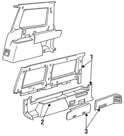 Interior Trim - Side Panel for 1991 Chrysler Town & Country #0
