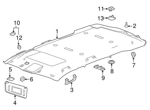 oem 2016 chevrolet tahoe interior trim roof parts. Black Bedroom Furniture Sets. Home Design Ideas