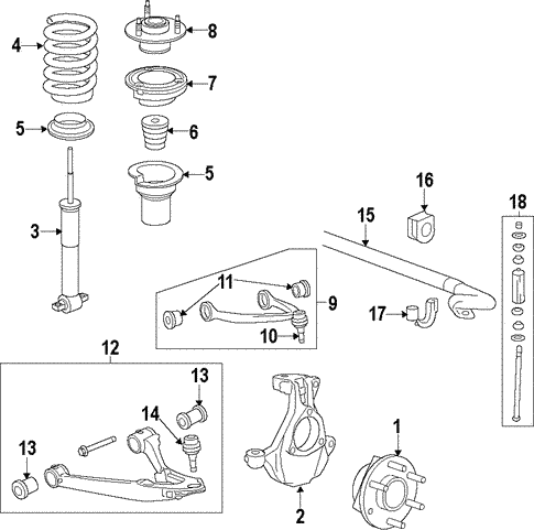 chevy truck front end diagram front suspension for 2013 chevrolet silverado 1500 gmpartonline  2013 chevrolet silverado 1500