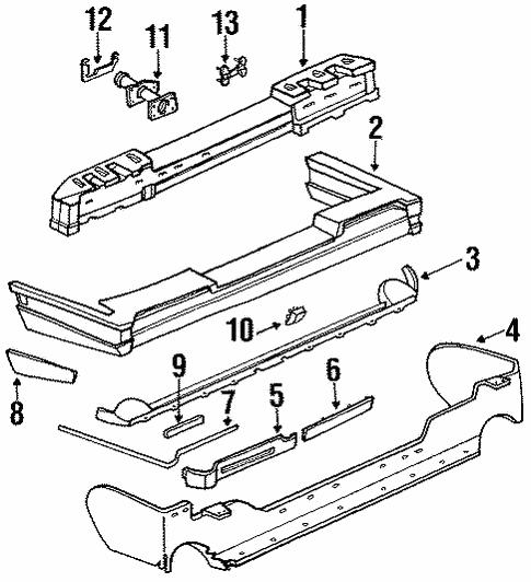 oem 1991 cadillac eldorado rear bumper parts gmpartsonline net 2000 Cadillac Eldorado body rear bumper for 1991 cadillac eldorado