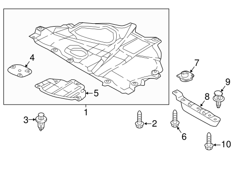 KB8A5611Y Injection Form MA1228125 Under Cover For Mazda CX-5 Front Engine Splash Shield 2017 2018 2019