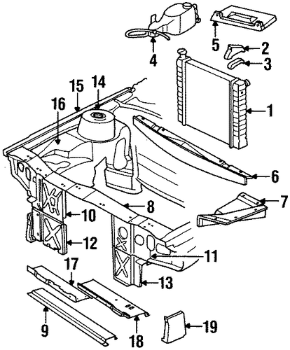 radiator mount bracket