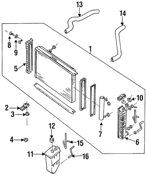 Radiator  U0026 Components For 1995 Mercury Villager
