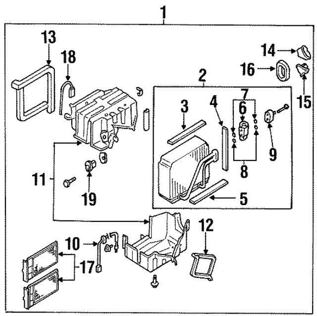 1998 2003 Infiniti Thermostatic Switch 27723 2j500