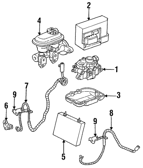 ABS Components for 1992 Saturn SC #0