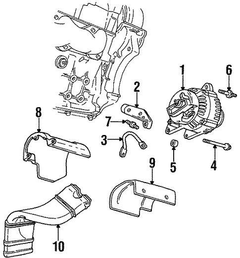 Alternator 1997 Chevrolet Monte Carlo Oem