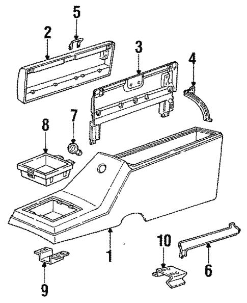 Oem 1984 Chevrolet S10 Blazer Center Parts