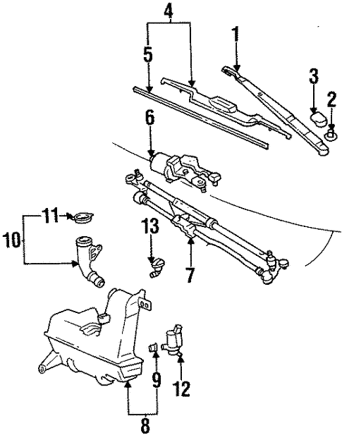 Wiper Washer Components For 1998 Toyota Supra