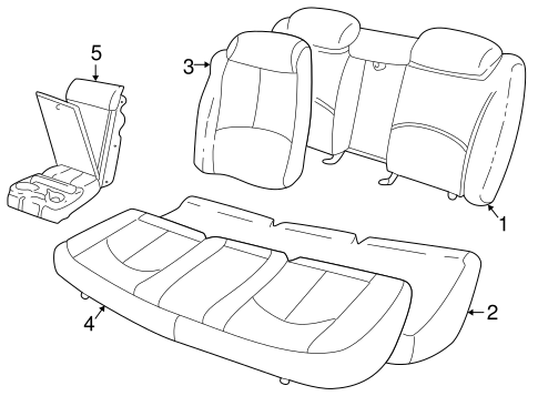 Rear Seat Components For 1998 Buick Regal