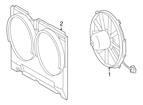 Cooling Fan For 2000 Mercedes Benz Clk 430