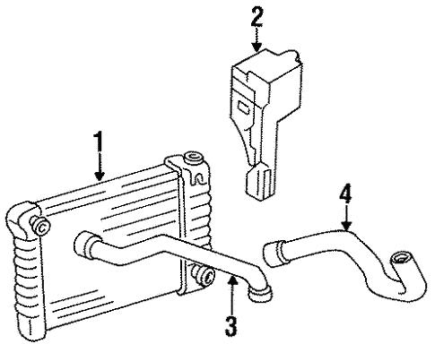 Oem 1984 Chevrolet G30 Radiator Components Parts