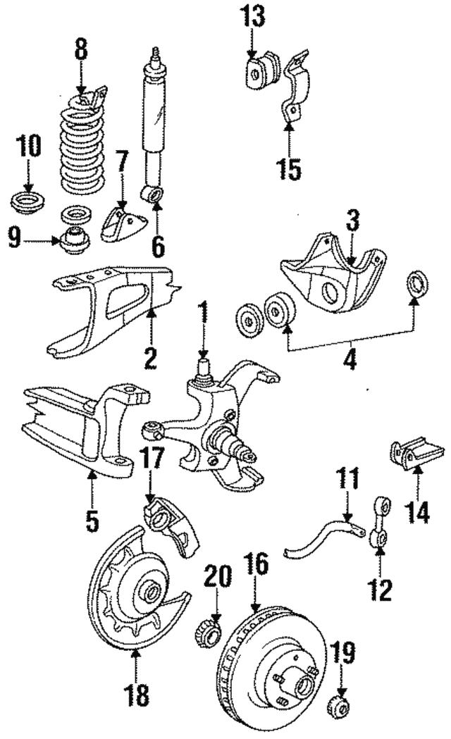1987 1997 Ford Stabilizer Link Insulator E8tz 5493 A