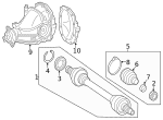 Axle Assembly - Mercedes-Benz (172-350-93-01)