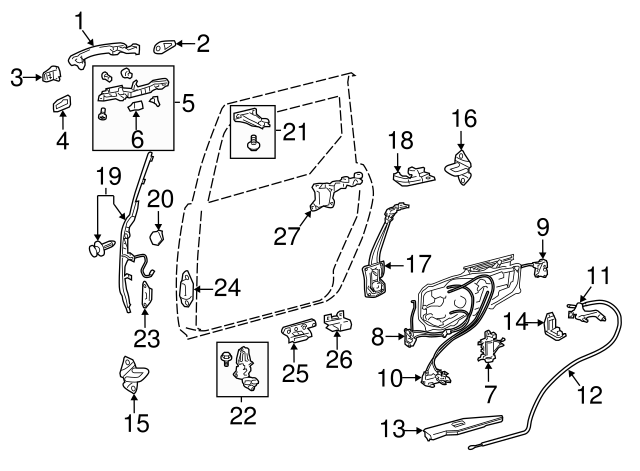 toyota sienna sliding door diagram