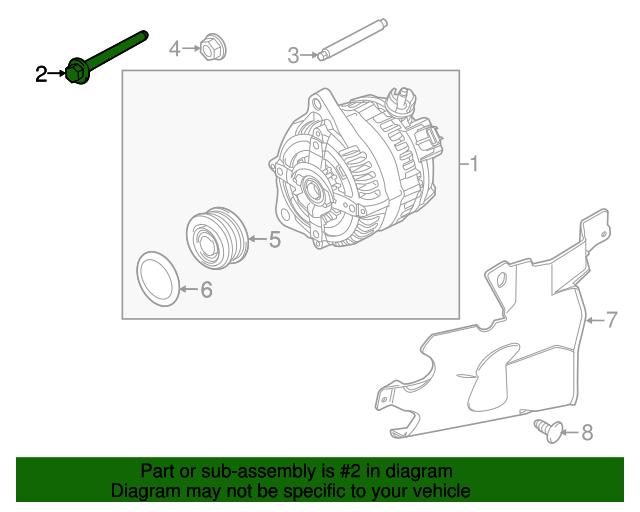 Ford F150lincoln Mark Lt Alternator M10 X 90mm Screw: Lincoln Mark Lt Engine Diagram At Freddryer.co