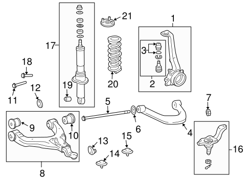 Genuine OEM Suspension Components Parts for 2003 Toyota