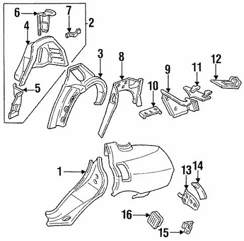 Inner Structure For 1999 Oldsmobile Aurora