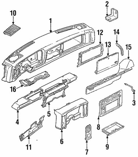 Oem 1992 Chevrolet S10 Instrument Panel Parts
