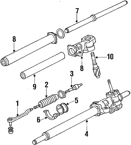 Cushion B, Power Steering Rack