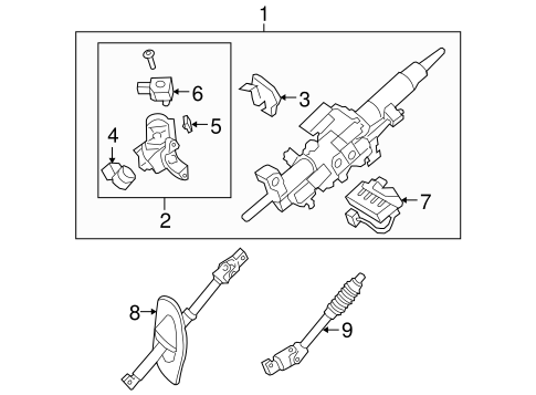 STEERING/STEERING COLUMN ASSEMBLY for 2012 Toyota Sequoia #2