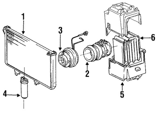 1984 1990 Toyota Compressor Clutch 88410 36390
