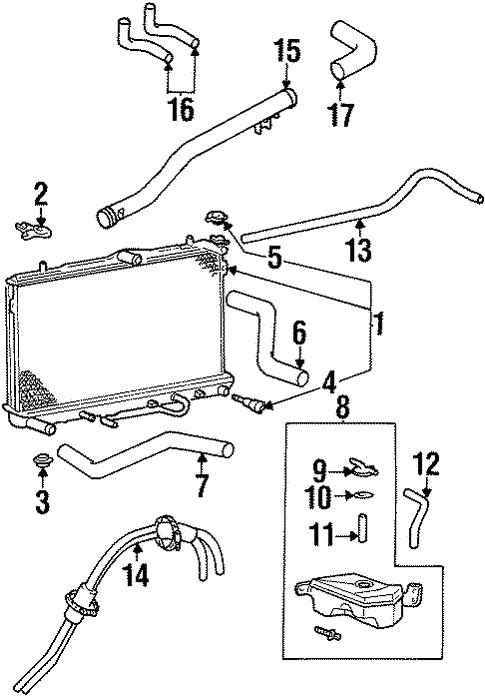 radiator  u0026 components for 1997 hyundai tiburon