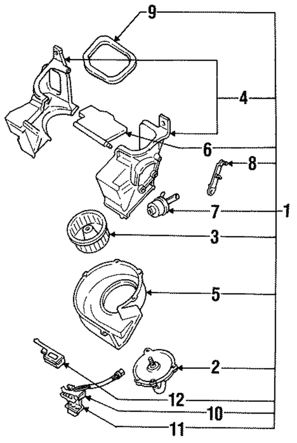 genuine subaru blower motor 72073ga170 ebay 1988 Subaru GL genuine subaru blower motor 72073ga170
