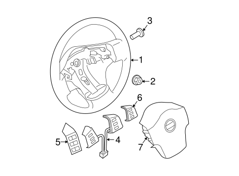 2006 Nissan Pathfinder Parts Diagram