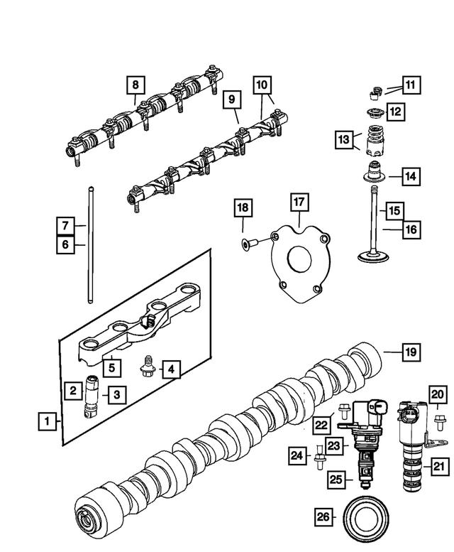 CHRYSLER OEM-Push Rods 5045515AA