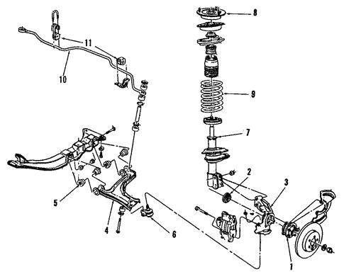 Oem Suspension Components For 1994 Chevrolet Cavalier