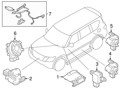 Air Bag Components For 2018 Nissan Armada