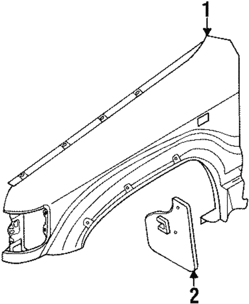 Fender & Components for 1995 Isuzu Trooper #0