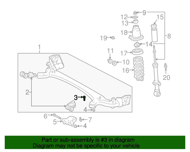 Link Assembly Bolt Toyota 90114 12035 Lagrange Toyota