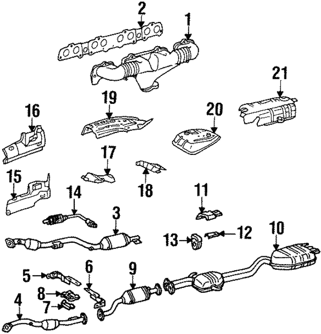 Exhaust Manifold - Mercedes-Benz (119-140-97-14)