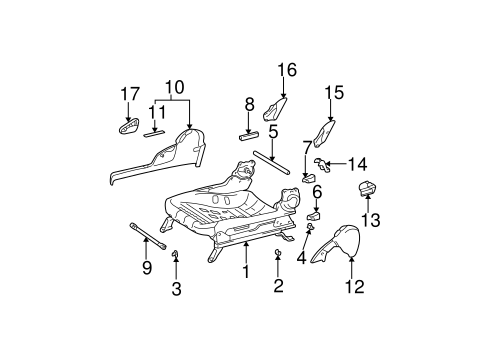 BODY/TRACKS & COMPONENTS for 2003 Toyota Camry #7