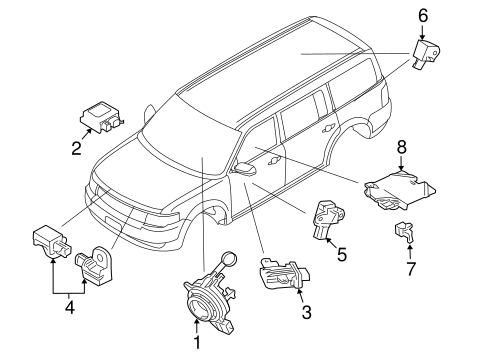 Electrical/Air Bag Components for 2013 Ford Flex #2
