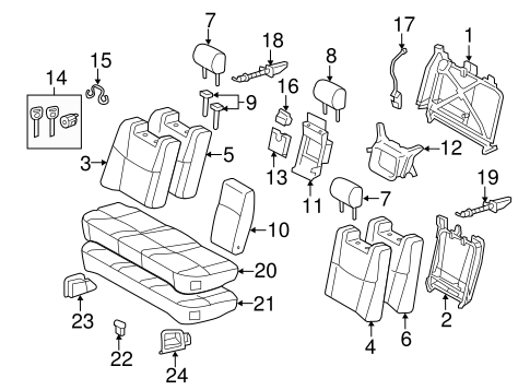 BODY/REAR SEAT COMPONENTS for 2008 Toyota Avalon #1
