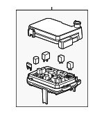 GM OEM Fuse Relay-Lower Cover 23158538