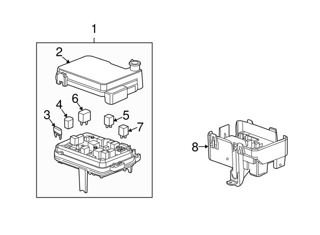 fuse box cover - gm (22922727) | gmpartsdirect com