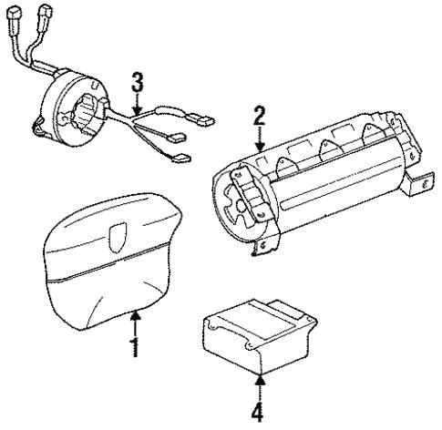 Air Bag Components For 1998 Porsche 911