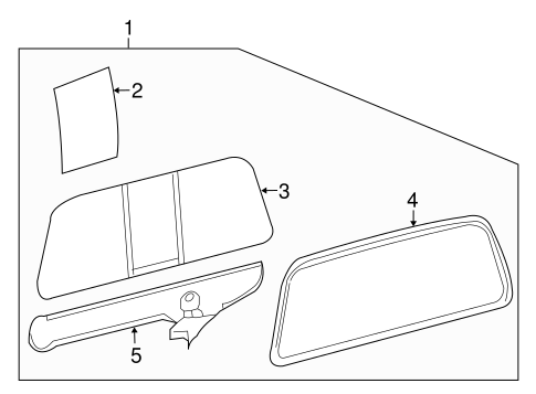 Electrical/Back Glass for 2008 Ford F-350 Super Duty #1