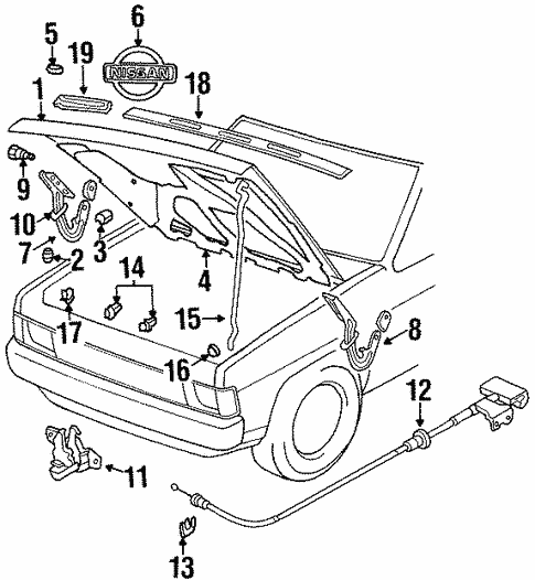 Hood Components For 1997 Nissan Pickup