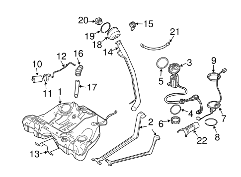 fuel system components for 2011 volvo xc90