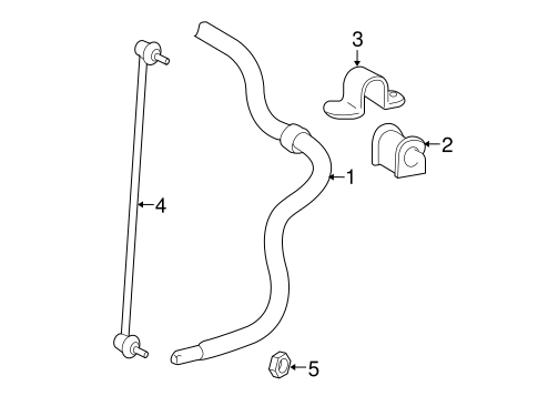 Stabilizer Bar Components For 2014 Toyota Yaris