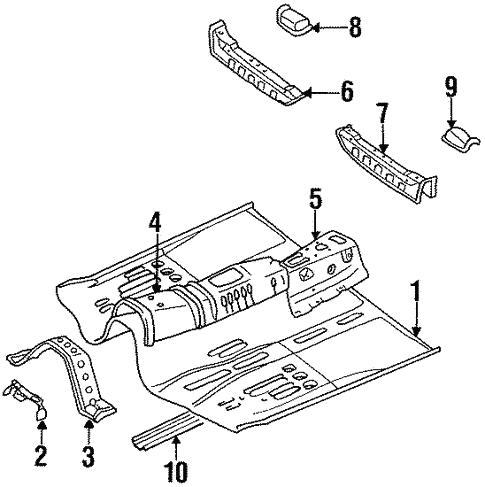 Floor Rails For 1997 Subaru Svx