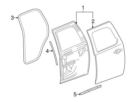 Oem 2011 Chevrolet Suburban 1500 Door Components Parts